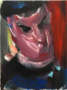 9_Spock, 2014 Acrylic on canvas, 26x 35cm